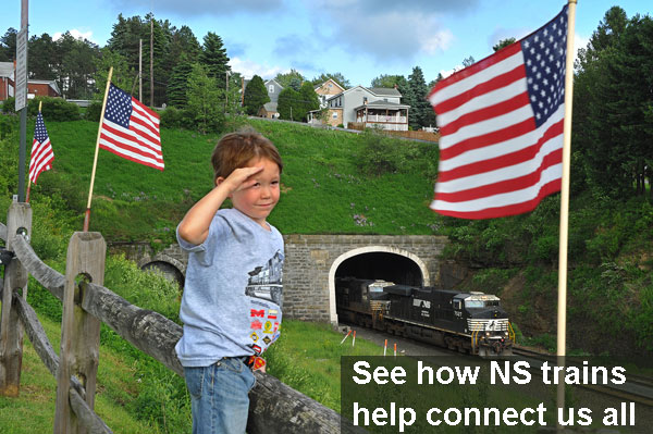 Norfolk Southern, Boy Salute's Flag?